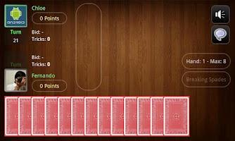 Screenshot of Live Spades Pro