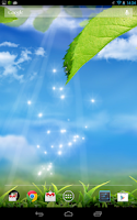 Screenshot of Green Leaf Wallpaper