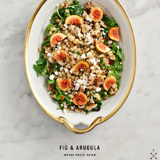 Fig & Arugula Wheat Berry Salad