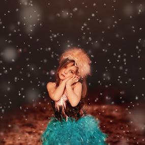 Winters Princess by Leigh Frudiger-Vanderland - Babies & Children Child Portraits