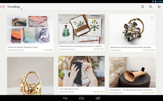 Screenshot of Etsy: Handmade & Vintage Goods