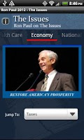 Screenshot of Ron Paul 2012 Election