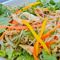 Spicy Peanut Noodle Salad Recipe by Becoming Pigzilla