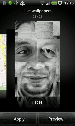 Faces Live Wallpaper