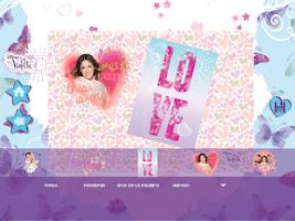 Screenshot of Violetta Digital Card - España