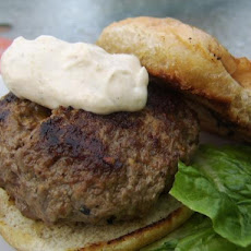 Outside-In Bacon Cheeseburgers With Green Onion Mayo