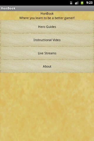 HoN Content Book