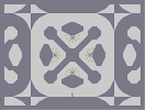 Thumbnail of the map 'Elongated Hexagons and Crossbones'