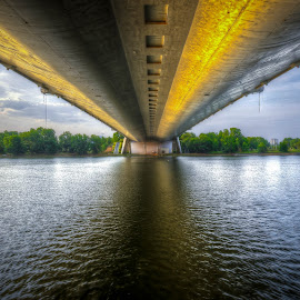 Under the Seri Saujana Bridge, Putrajaya by Zulkifli Yusof - Buildings & Architecture Bridges & Suspended Structures ( putrajaya, lake, malaysia, bridge )