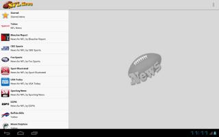 Screenshot of American Football News