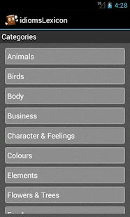 idiomsLexicon - English Idioms - screenshot