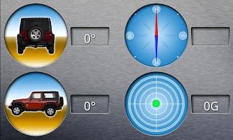 Screenshot of GForce and Inclinometer Car
