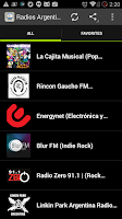 Screenshot of Radios Argentina