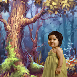 FUNNY KLEZIA by Bram Derisco - Digital Art People ( fantasy, child, model, digital art, digital painting )