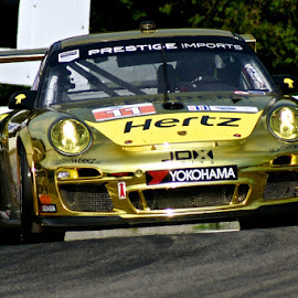 Golden Porsche by Pierre Tessier - Transportation Automobiles ( car, mosport, porsche, racing car, race,  )