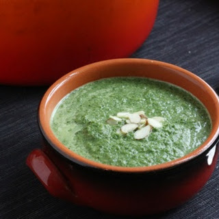 Coconut Cream of Spinach and Broccoli Soup