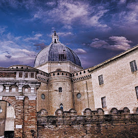 Church in Le Marche by Victor Pizzola - Digital Art Places ( le marche )