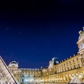 Won't be long now by Bobo Chuckleworth - City,  Street & Park  Historic Districts ( paris, louvre, brilliant, night, castle, france, museum, lelouvre, chateau, historic )
