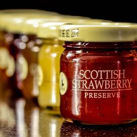 Strawberry preserve by Garry Chisholm - Food & Drink Eating ( garry chisholm, jar, jam, strawberry, preserve )