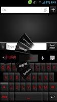 Screenshot of GO Keyboard Black Red Theme