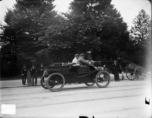 Motor car driving on St Stephen's Green