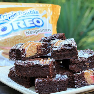 Neapolitan Oreo Brownies