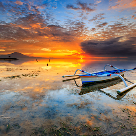 Beautiful Morning by Gede Suyoga - Landscapes Sunsets & Sunrises ( clouds, nature, cloud, sunrise, landscape,  )