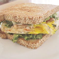 Avocado Kale Pesto Sandwich