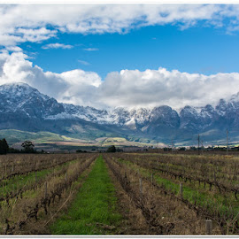 Snowy end by Wessel Badenhorst - Landscapes Mountains & Hills