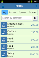 Screenshot of Monthly Budget