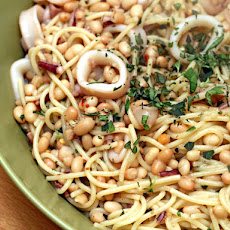 David Tanis's Pasta with Squid and White Beans
