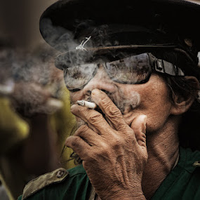 Smoke it out by Eric Montalban - People Street & Candids ( festival, men, philippines, people, smoke, portrait )