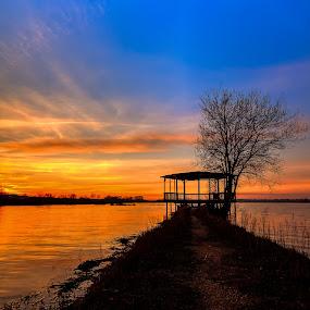 Sunset at Pateira de Espinhel by Nuno Miguel Valente - Landscapes Sunsets & Sunrises ( lago, water, pateira de espinhel, agueda, lake, pds, paisagem, por do sol )