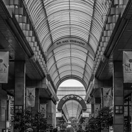 Straight shopping by Anthony Weber - City,  Street & Park  Street Scenes ( shopping street, japan, street, sun mall, sendai, ichibancho )