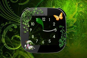 Screenshot of Nature v2 Clock widget