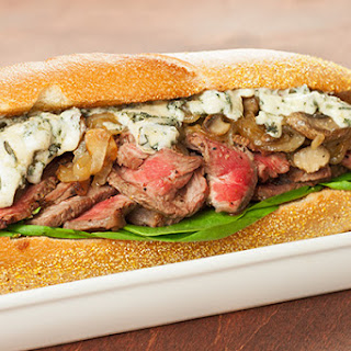 Grilled Rib-Eye Sandwich with Blue Cheese