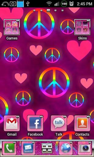 Pink Love GO Launcher Ex Theme