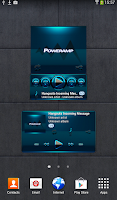 Screenshot of Poweramp widget BLACK L. Blue