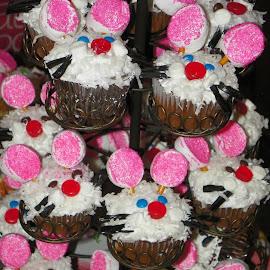 Cupcake Bunnies by Melanie Goins - Food & Drink Cooking & Baking ( cupcake, coconut, whiskers, ears, bunnies,  )