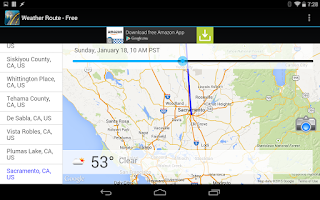Screenshot of Weather Route - FREE