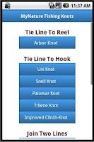 Screenshot of MyNature Fishing Knots