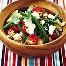 Green Bean, Tomato, Spinach And Feta Pasta
