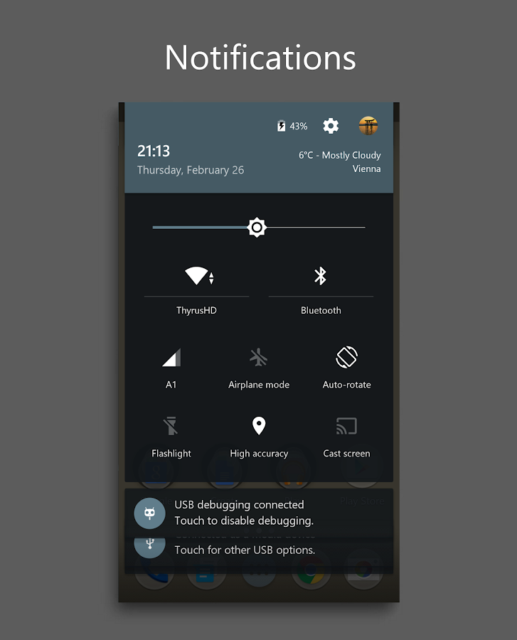 DarkMTRL Thyrus CM12/13 Theme Screenshot 13