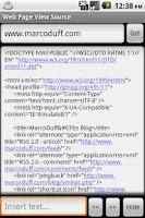 Screenshot of WebPageViewSource