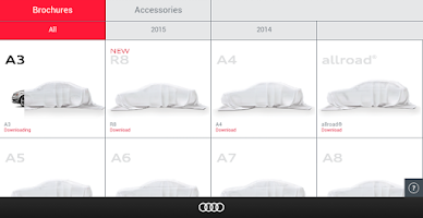 Screenshot of Audi Library