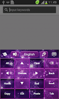 Screenshot of Violet Sparkly Galaxy Keyboard