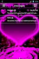 Screenshot of GO SMS Pro Hearts Theme