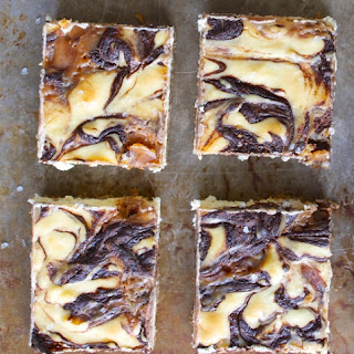 Salted Caramel Mocha Cheesecake Squares