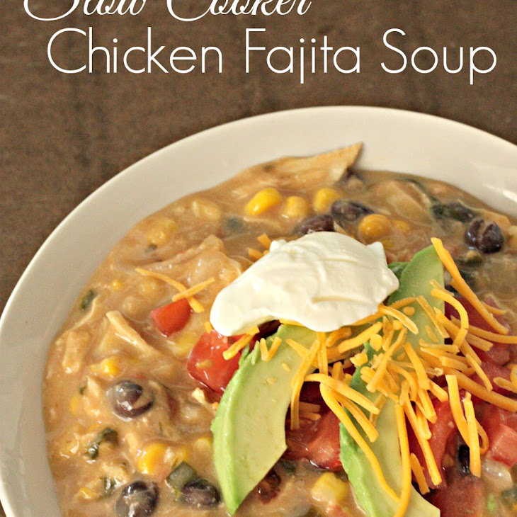 Slow Cooker Creamy Chicken Fajita Soup Recipe | Yummly