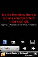 Screenshot of War Quotes